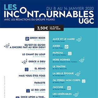 Les Films Incontournables d'UGC : 3,50€ la place de ciné