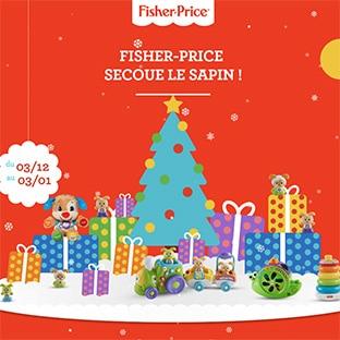 Jeu de Noël Mattel : 10 jouets et 1 an de Fisher-Price à gagner