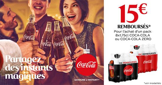 Offre de remboursement Coca Cola