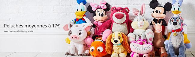 Peluches Disney personnalisées en promotion sur Disney Store
