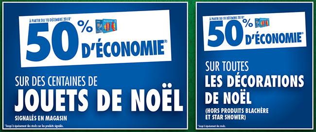 50% d'économies sur les décorations et les jouets de Noël chez Carrefour