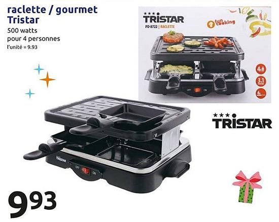 Machine à raclette Tristar à moins de 10€ chez Action