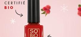 Test SO'BiO étic : 100 vernis Natural' Rouge gratuits
