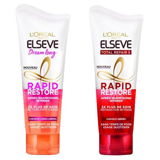 testez les après-shampooings Rapide Restore d'Elsève