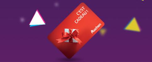 cartes cadeaux Auchan de 100€ à gagner