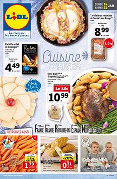 Catalogue Lidl de la semaine : Cuisine d'hiver