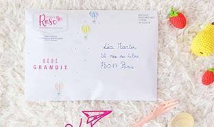 Échantillons La Boîte Rose : Coffret «Bébé Grandit» gratuit