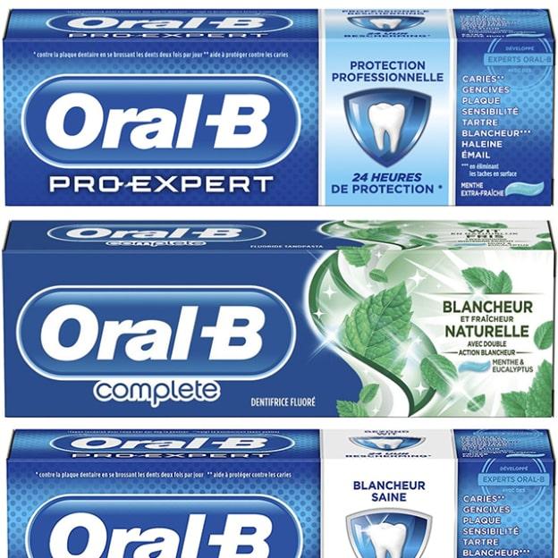 Dentifrice Oral-B gratuit avec un bon de réduction Envie de Plus