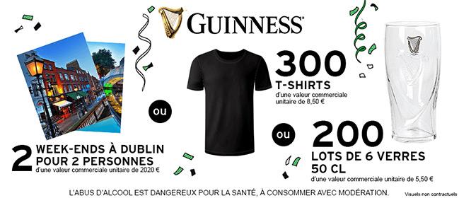 Cadeaux offerts par Guinness et Intermarché
