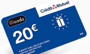 Jeu Crédit Mutuel : 108'000 cartes cadeaux de 20€ à gagner !