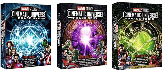 Coffrets DVD Marvel Studios Cinematic Universe moins chers