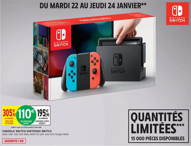 Promotion Console de jeux Nintendo Switch pas chère chez Intermarché
