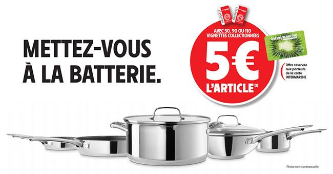 Poêles, casseroles et wok MasterChef avec les vignettes Intermarché