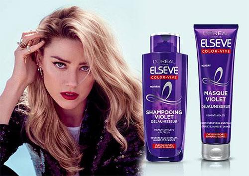 Shampooing & masque Violet Déjaunisseur Elseve Color Vive à tester