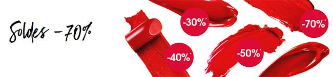 sélection de cosmétiques soldes à -70% avec Sephora