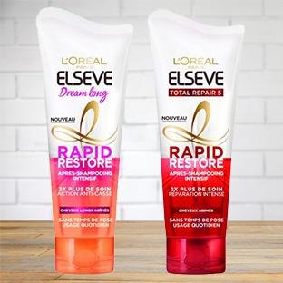 Test Elseve : 200 après-shampooings Rapid Restore gratuits