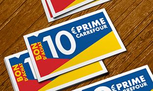 Prime Promo + : bon d'achat 10€ Carrefour