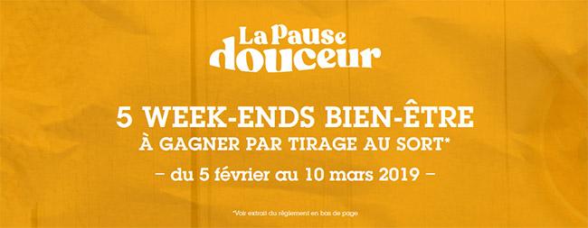 "5 coffrets Wonderbox ""Week-end Bien-être"" à gagner"