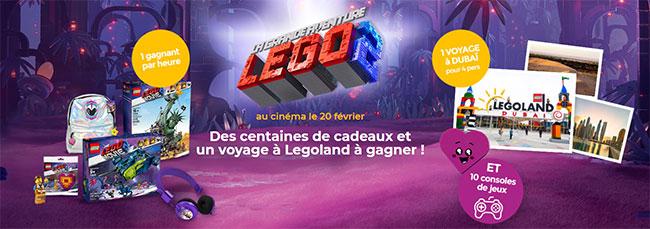 cadeaux Lego à gagner aux instants gagnants et tirage au sort La Poste