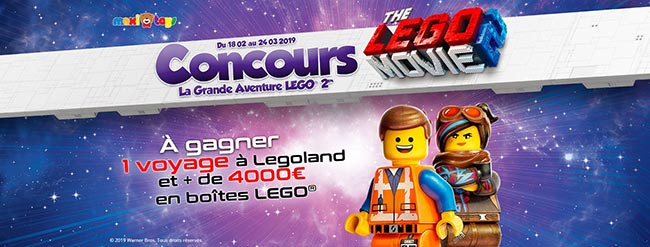 voyage et boîtes de Lego à remporter avec Maxitoys