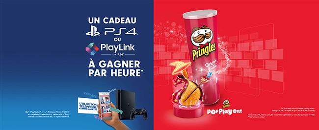 console PS4 et jeux Playlink à remporter au concours Pringles