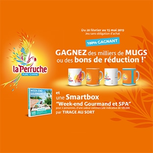 smartbox webcoupons mugs perruche à gagner