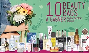 10 Beauty Bags (avec + de 675€ de produits de beauté) à gagner