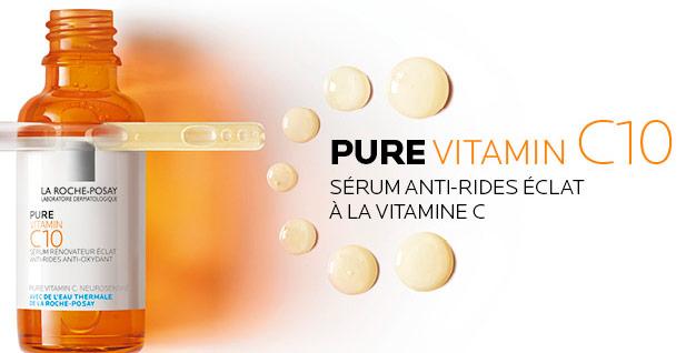 essayer gratuitement le sérum Vitamin C10 de la roche posay avec sampleo