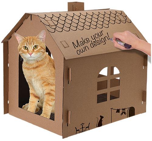 Maison pour chat personnalisable pas chère