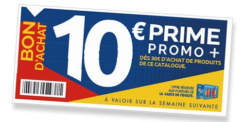 coupon d'achat Pime Fidélité Carrefour : 10€ offert