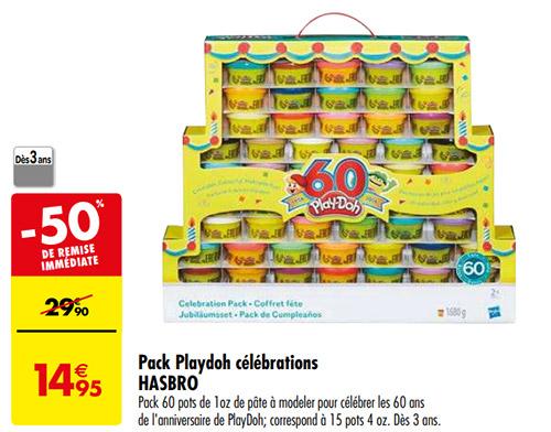 pack de pâte à modeler Playdoh en promo chez Carrefour