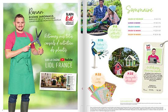 sommaire catalogue jardinage Lidl bons plans pas chers