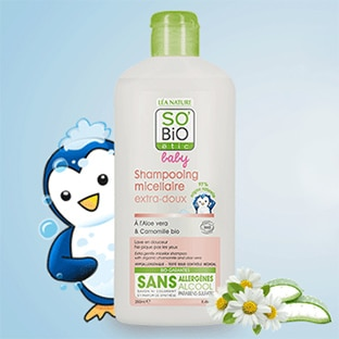 Test SO'BiO étic : 100 shampooings micellaires extra-doux Baby gratuits
