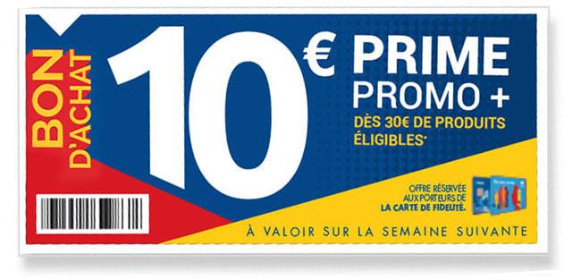 bon d'achat de 10€ offert dès 30€ chez Carrefour Market