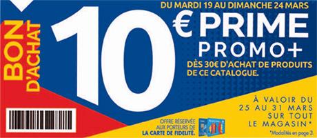 Bon d'achat Prime Promo+ offert