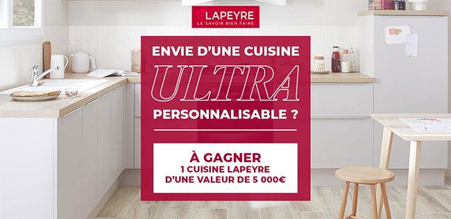 Tentez de remporter une cuisine ultra personnalisable Lapeyre