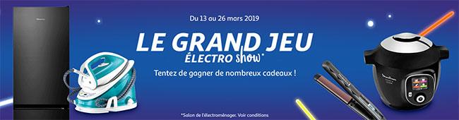 Les cadeaux du Jeu Electro Show d'Auchan