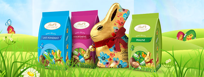 des chocolats Lindt à remporter pour Pâques