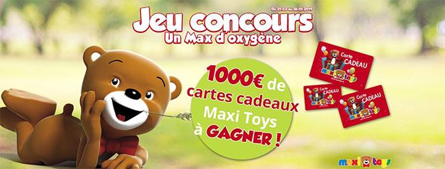Tentez de gagner une carte cadeau Maxi Toys