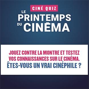 Jeu Ciné Quiz Printemps du Cinéma