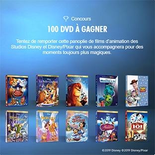 collection DVD Disney à gagner