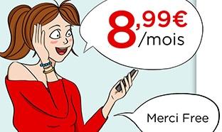 Vente Privée : Forfait Free mobile 40 Go à 8,99€ / mois à vie