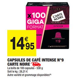 Giga format de capsules Carte Noire pas cher chez Carrefour