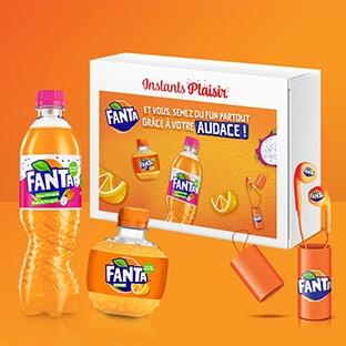 Instants Plaisir Box dégustation Fanta avec Coca-Cola