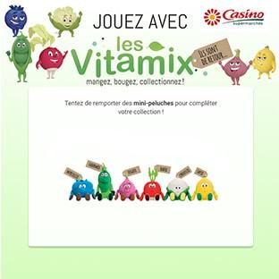tentez de gagner les peluches Vitamix de Casino