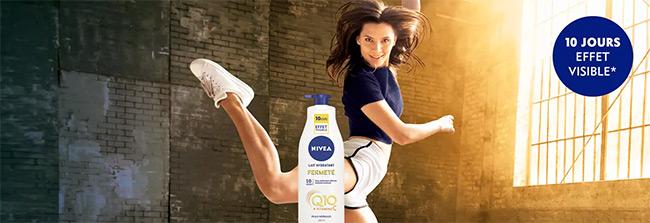 Testez gratuitement le lait fermeté Q10 Nivea