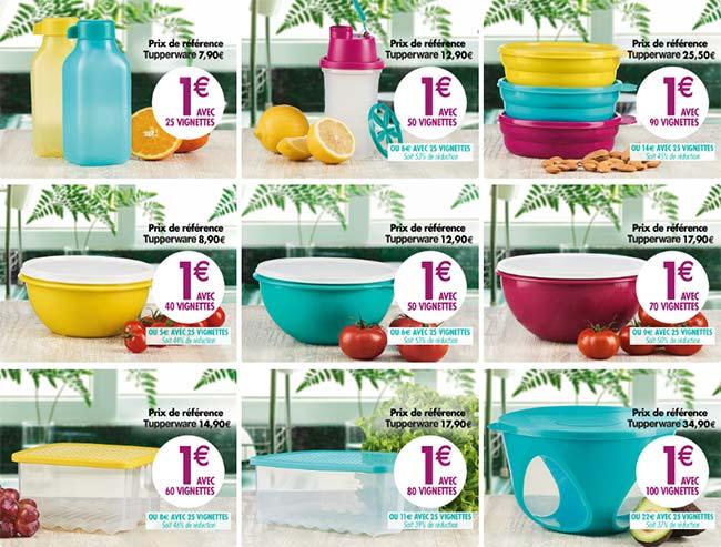 les produits Tupperware de Carrefour