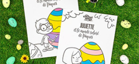 livre de coloriage de Pâques gratuit Hourra Héros
