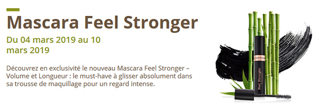 mascara Feel Strnger Yves Rocher offert pour test