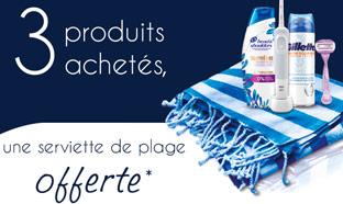 Opération Beauté 2019 Procter & Gamble : serviette de plage offerte